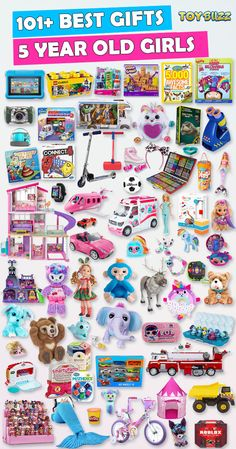 Browse our Christmas Gift Guide featuring Best Gifts For 5 Year Old Kids. Discover educational toys, unique kids gifts, kids games, kids books, and more for your 5 year old girl. Make her Christmas extra magical with these delightful picks she'll love! Best Gifts For Girls, Unique Gifts For Kids, Cool Toys For Girls, Little Girl Gifts, Birthday Gifts For Boys, Presents For Girls, Kids Gifts, Birthday Games, Girls Toys