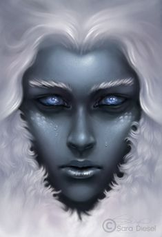 Beautiful Character Design by Sara K. Diesel    In my opinion, this is exactly what Skadi would look like.  (Norse myth)  In fact, this is practically my mental image for her.