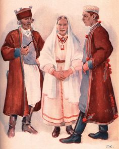 Regional clothing of Biłgoraj, Poland.