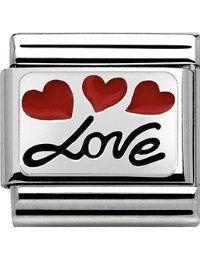 Détails sur le produit Nomination Charms, Nomination Bracelet, Love Balloon, Heart Flutter, Heart Balloons, Greed, Black Enamel, Little Red, Love Heart