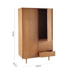 Dressing vintage 2 portes 3 tiroirs Portobello | Maisons du Monde Portobello, Retro Furniture, Wood Furniture, Furniture Design, Midcentury Modern, Wardrobe Drawers, Bed Frame With Storage, Italian Home, Loft Room