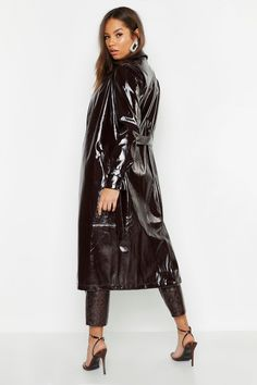 Long Leather Coat, Leather Jacket, Leather Trench Coat Woman, Bomber Coat, Langer Mantel, Raincoats For Women, Rain Wear, Unisex, Photos
