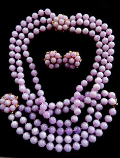 Gorgeous Lilac 3-strands cascade necklace bracelet by RAKcreations