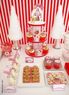 Christmas Candyland Party Printables Supplies & Decorations Kit with Invitations
