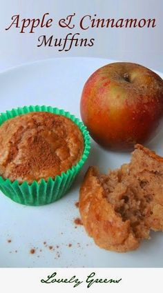 Simple recipe for moist and homemade Apple & Cinnamon Muffins.