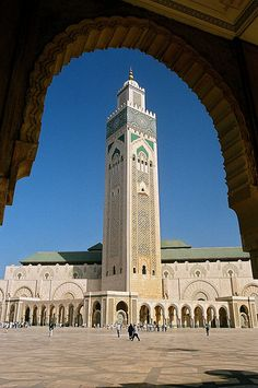 Minaret of the Hassan II Mosque, Casablanca, Morocco