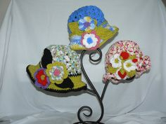I love all these little crochet hats! $25.00