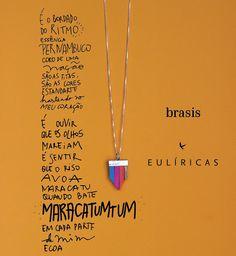 """""""gente, fui convidada pela @mayfonseca a criar um colar-poesia para o maravilhoso projeto @brasis.vc. me enchi de rimas e mergulhei nessa cultura linda do…"""""""