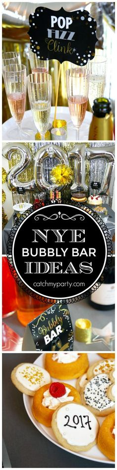 New Year's Eve Champagne Bar Party Ideas! Tips on throwing a glam party with help from /partycity/! #ad | http://CatchMyParty.com
