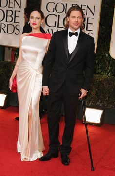 Brad and Angelina! She looks gorgeous!