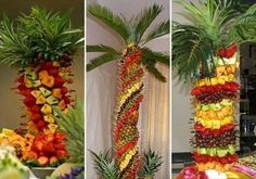 Palm tree fruit and pineapples Fruit Centerpieces, Fruit Decorations, Fruit Arrangements, Quick Weight Loss Diet, Yoga For Weight Loss, Weight Loss Program, Weight Gain, Palm Tree Fruit, Fruit Trees