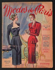 'MODES DE PARIS' FRENCH VINTAGE NEWSPAPER 2 DECEMBER 1949 | eBay