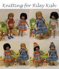 "Knitting patterns for 8"" Riley Kish doll"
