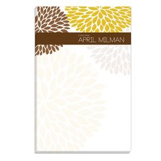 Brown Mum Notepads, Create Beautiful Personalized Brown Mum Notepads at Affordable Prices Consumer Products, Brown, Brown Colors