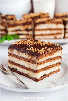 Polish Desserts, Polish Recipes, No Bake Desserts, Healthy Desserts, Dessert Recipes, Brownie Recipes, Cookie Recipes, Homemade Cakes, Chocolate Desserts
