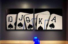 Royal Flush Of Spades Poker Art Painting by Teo Alfonso