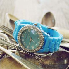 Time Keeper Watch in Turquoise...