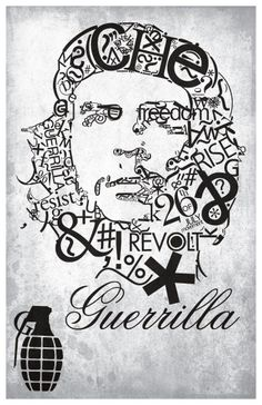CHE GUEVARA guerilla poster SYMBOLIC artistic collage REVOLUTIONARY Brand New. Will ship in a tube. - Multiple item purchases are combined the next day and get a discount for domes Che Guevara Quotes, Che Guevara Images, Che Guevara Tattoo, Ernesto Che, Type Posters, Guerrilla, Cellphone Wallpaper, Watercolor Portraits, Learn To Draw