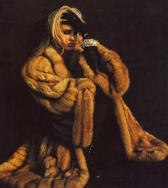 Enveloped in fur