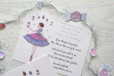 Sugar Plum Fairy invitation   by Icing Designs
