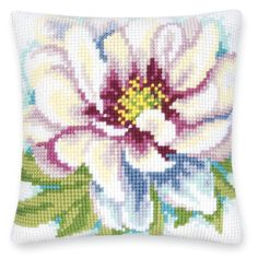 Peonies in Pastel Pillow Top - Cross Stitch, Needlepoint, Embroidery Kits – Tools and Supplies