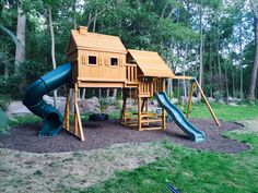 Best In Backyards Of New York And Connecticut Recently Installed This Customized Fantasy Tree House Swing