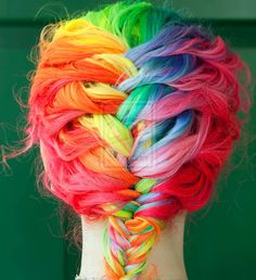 Rainbow French Braid by *wisely-chosen.  I would never have the balls to do this, but she pulls it off so beautifully.