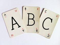 Vintage Alphabet Letter for Craft Wedding by BucketandSpadeShop, £0.95