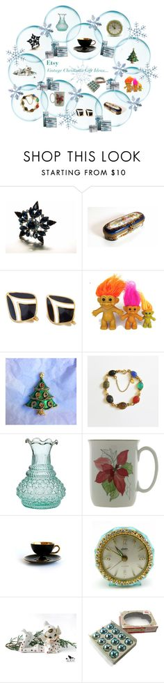 """Vintage Christmas Gift Ideas..."" by lizzysbibsandbobs ❤ liked on Polyvore featuring interior, interiors, interior design, home, home decor, interior decorating, ETUÍ, Aquarelle and vintage"