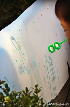 Bubbles: Easy Art- Finding creative ways to make art will inspire children and spark their imagination. Check out the Bubble Art tutorial on the Kids Activities Blog.