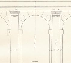 Tuscan Portico without Pedestal  Architectural Drawing by carambas, $14.00