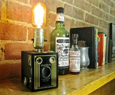 The Flapper Lamp  Vintage Kodak Brownie camera by SpeakeasyLamps, $60.00