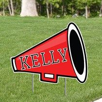 1 ft 95 in Cheer Personalized Yard Sign