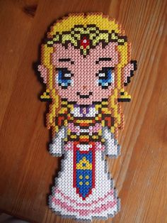 Zelda hama beads by beadstoterabithia Perler Beads, Perler Bead Mario, Fuse Beads, Hama Beads Design, Hama Beads Patterns, Beading Patterns, Stitch Games, Pixel Beads, Nerd Crafts