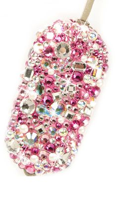 Car Key. Design: Diamonds and Pearls in Pink and Crystal Theme.