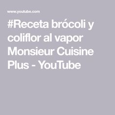 Lidl, Youtube, Recipes With Cauliflower, Steamed Broccoli, Steamed Vegetables, Meals, Food Processor, Thermomix