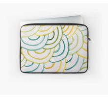 'Concentric Watercolor half circles in yellow and green pattern' Laptop Sleeve by artsome-design Laptop Skin, Laptop Bag, Half Circle, Green Pattern, Dresses With Leggings, Back To Black, Art Boards, Laptop Sleeves, Wall Tapestry