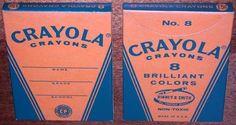 Vintage 1950's 60s 15cent CRAYOLA CRAYONS