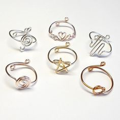 This item is unavailable Wire Jewelry Rings, Wire Jewelry Designs, Handmade Wire Jewelry, Handmade Rings, Wire Wrapped Jewelry, Diy Jewelry, Beaded Jewelry, Jewelry Making, Jewellery