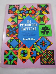 101 Patchwork Patterns Quilting Book Ruby by BonniesVintageAttic