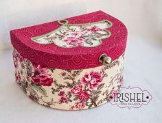"""Irishel - картонажные подарки.: Картонаж. Шкатулка для рукоделия """"Розы и Маки""""."""