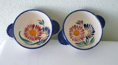Henriot Qimper Vintage Faience Pottery Pair of by LaCassoulere, €50.00