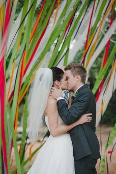 DIY Ribbon Backdrop  Photography by jnicholsphoto.com