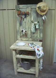 Atraves de uma porta velha,aparece uma otima ideia...