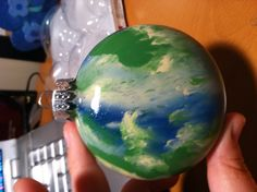 Acrylic paint ornament... Make sure not to use too much paint