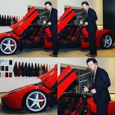 PsBattle: Keanu and a Ferrari.