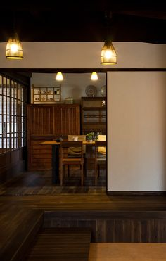 House in Nonaka / Old private house regeneration · Japanese Style House, Traditional Japanese House, Japanese Interior Design, Japanese Home Decor, Asian Interior, Interior Styling, Interior And Exterior, Japanese Architecture, Interior Architecture