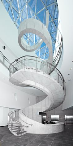 Beautiful staircase at the Dali Museum in St. Petersburg.