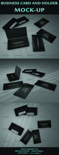Business Card and holder mock-ups