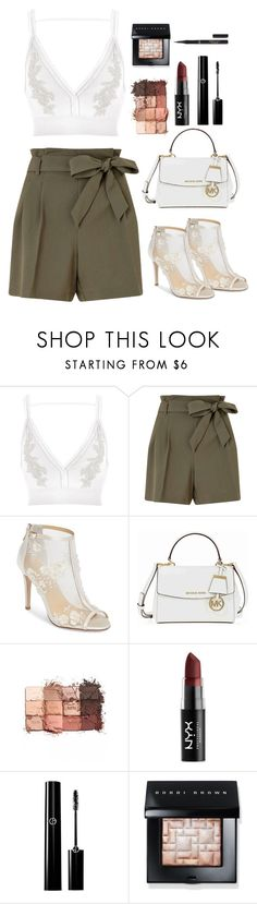 """Sin título #111"" by sxicidegirl ❤ liked on Polyvore featuring River Island, Miss Selfridge, Bella Belle, Michael Kors, tarte, NYX, Bobbi Brown Cosmetics and L'Oréal Paris"